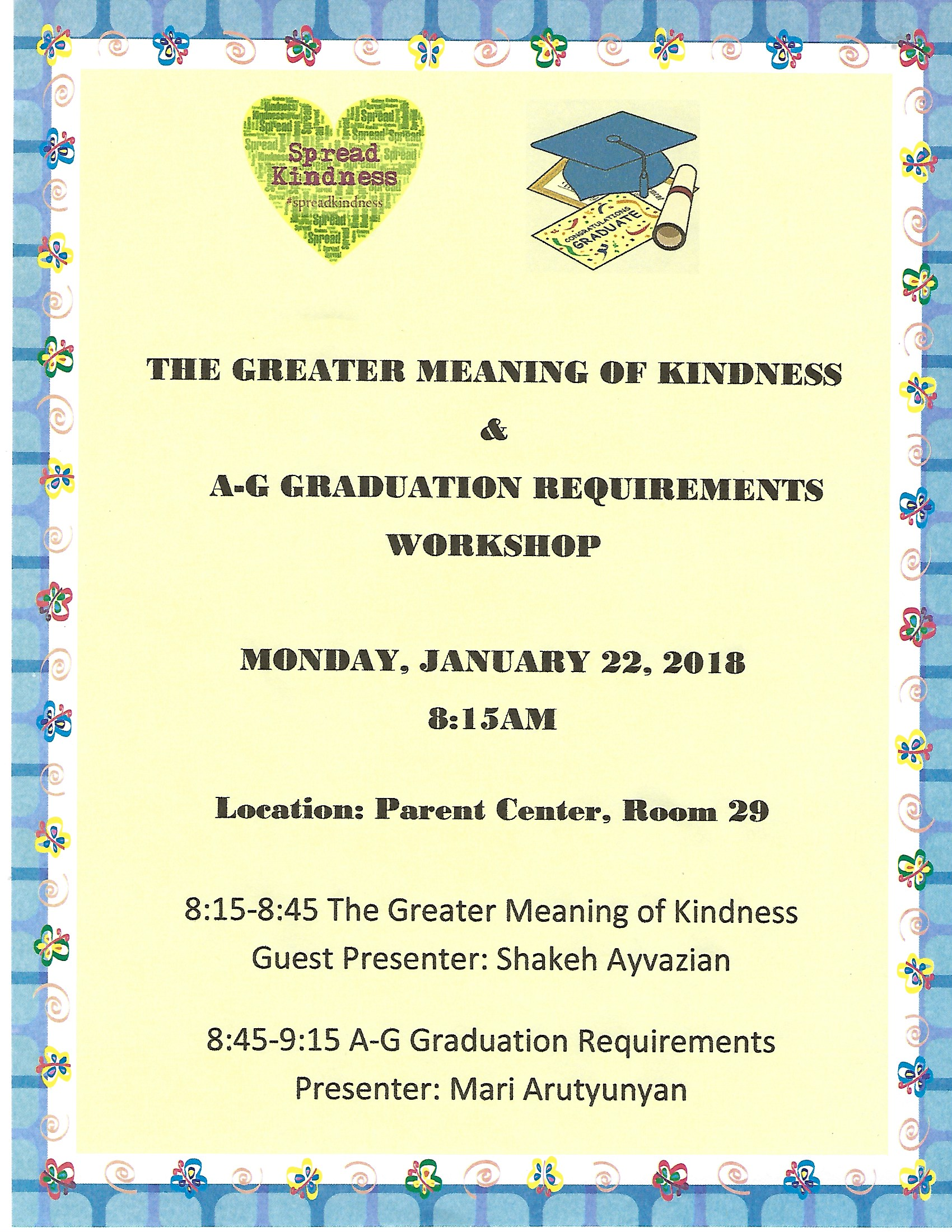 The Greater Meaning of Kindness and A-G Grad Requirements