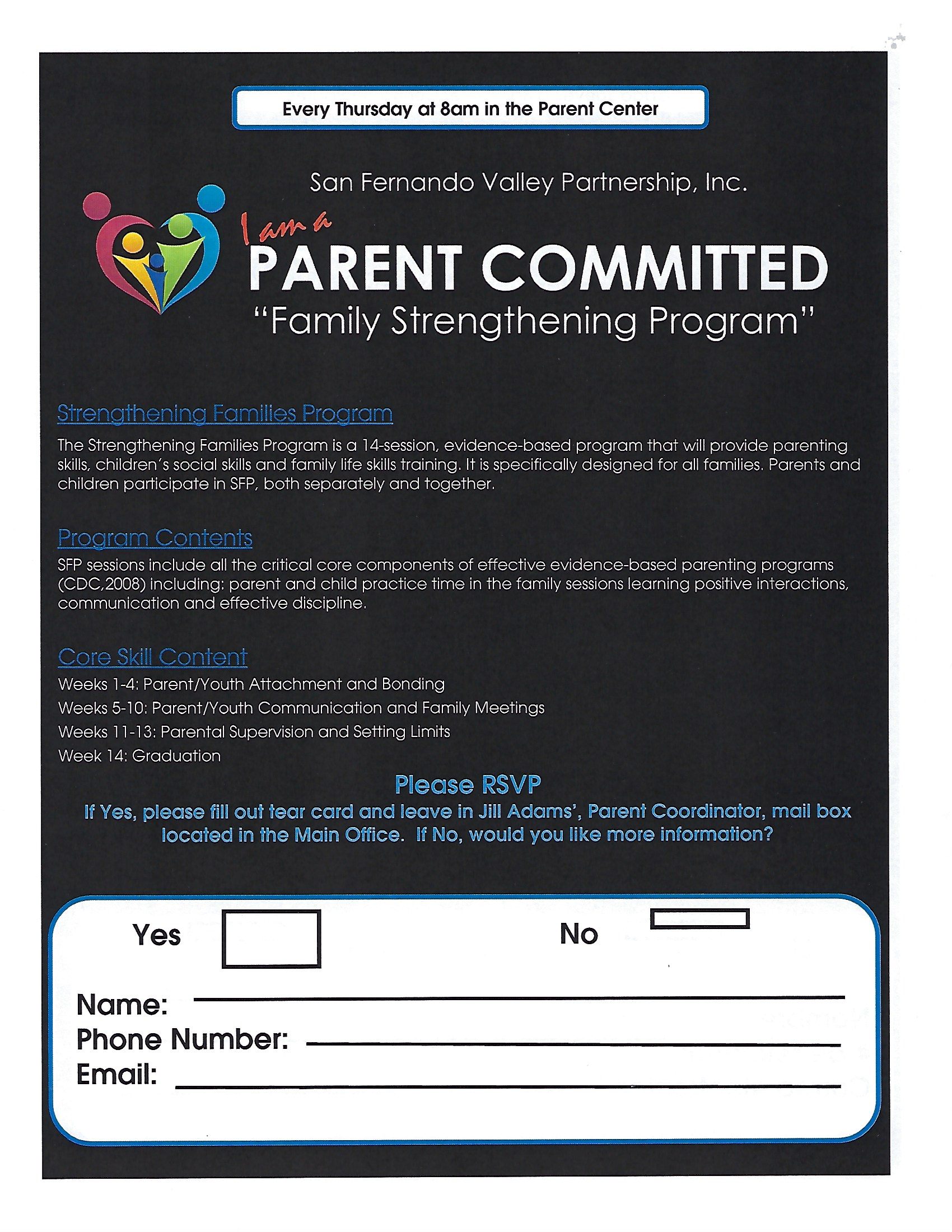 PARENT COMMITTED THURSDAY MEETING 9:15am